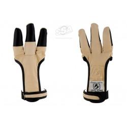 Shooting glove BUCK TRAIL FULL PALM BUFFALO BLACK FINGERTIPS